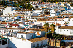 Rooftops of Rancho Domingo village Stock Photography