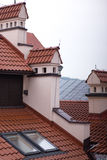 Rooftops. Red metal, old town Stock Photo