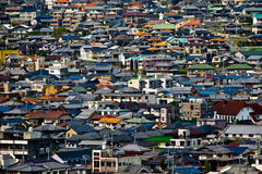 The rooftops of residential houses Royalty Free Stock Photos