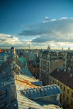 Rooftops of Riga city Royalty Free Stock Image