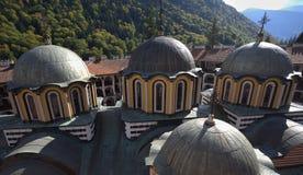 Rooftops of Rila monastery Royalty Free Stock Photography
