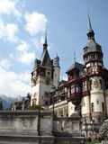Rooftops of romantic Peles castle, Transylvania Royalty Free Stock Photo