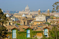 Rooftops of Rome Royalty Free Stock Photos