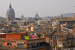 Rooftops of Rome. View on rooftops of Rome Royalty Free Stock Image