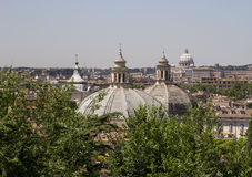 Rooftops in Rome, Italy Royalty Free Stock Images
