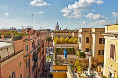 Rooftops in Rome near spanish steps Stock Photos