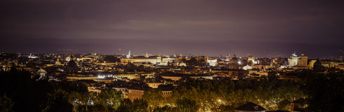 Rooftops of rome by night Royalty Free Stock Photos