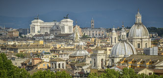 Rooftops of rome Stock Photo