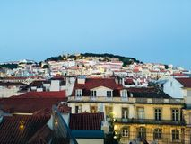 Rooftops. Rooftop view in Lisbon, portugal royalty free stock photography
