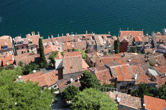 Rooftops in Rovinj, Croatia Stock Photo