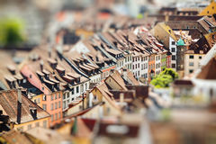 Rooftops of Schaffhausen a town in Switzerland. Miniature Royalty Free Stock Photos