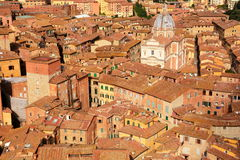 Rooftops of Siena,Italy Stock Image