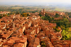 The Rooftops of Siena Italy Stock Photography