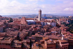 The Rooftops of Siena Italy Royalty Free Stock Photos