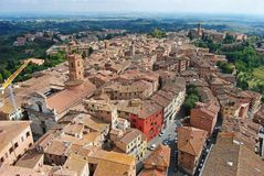 Rooftops in Siena. Stock Photo