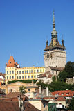 Rooftops of sighisoara in romania Royalty Free Stock Image