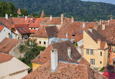 Rooftops in Sighisoara, Romania. Royalty Free Stock Photos