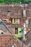 Rooftops in Sighisoara, Transylvania. Royalty Free Stock Photo