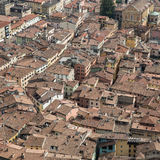 Rooftops of small italian city Royalty Free Stock Images