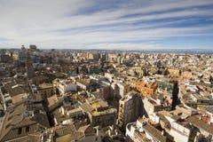 rooftops spain valencia Arkivbilder