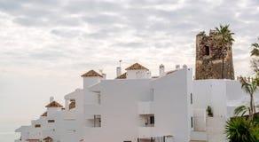 Rooftops of the spanish condominium Stock Image