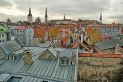 Rooftops of Tallinn Stock Image