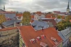 Rooftops of Tallinn Stock Photo