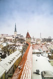 Rooftops In Tallinn Royalty Free Stock Images
