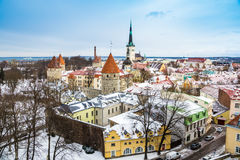 Rooftops In Tallinn Royalty Free Stock Photos