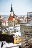 Rooftops In Tallinn Royalty Free Stock Photo