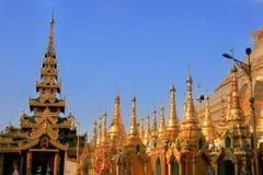 Rooftops of the temples, Shwedagon Pagoda complex, Yangon, Myanm Stock Photography