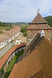 Rooftops at Valea Viilor, Transylvania, Romania Stock Images