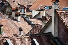 Rooftops view from Bern, Swizerland royalty free stock images