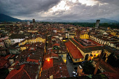 Rooftops View of Lucca, Tuscany, Italy Stock Images