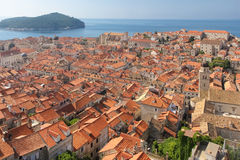 Rooftops. View of the old town. Dubrovnik. Croatia Royalty Free Stock Photos