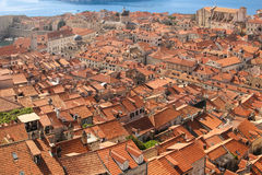 Rooftops. View of the old town. Dubrovnik. Croatia Royalty Free Stock Images