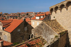 Rooftops. View of the old town. Dubrovnik. Croatia Stock Photography