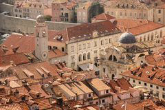 Rooftops. View of the old town. Dubrovnik. Croatia Stock Photos