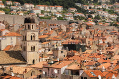 Rooftops. View of the old town. Dubrovnik. Croatia Royalty Free Stock Image