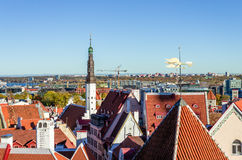 Rooftops. View over the rooftops of Tallinn Royalty Free Stock Photos