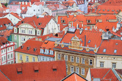 Rooftops view from the Town Hall tower in Prague Stock Image