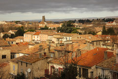 Rooftops of the village. Carcassonne. France Stock Image