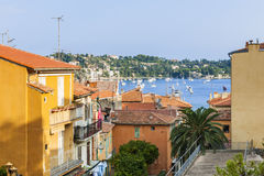 Rooftops in Villefranche-sur-Mer Stock Photography