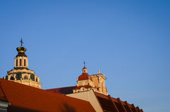 Rooftops of Vilnius, Lithuania, Europe Royalty Free Stock Photos