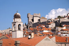 Rooftops in the Walled City of Dubrovnic in Croatia Europe. Dubrovnik is nicknamed `Pearl of the Adriatic. Dubrovnik is one of the most beautiful towns in the Royalty Free Stock Photography