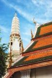 Rooftops at Wat Arun Temple Royalty Free Stock Photo