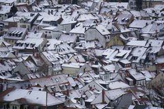 Rooftops in winter Royalty Free Stock Photography
