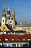 Rooftops zagreb Stock Photography