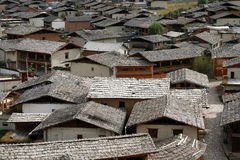 Rooftops of Zhongdian Royalty Free Stock Photography