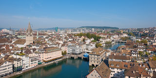 Rooftops of Zurich Stock Photo